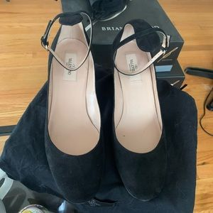 VALENTINO SHOES HEELS SZ 39 9 ankle strap black